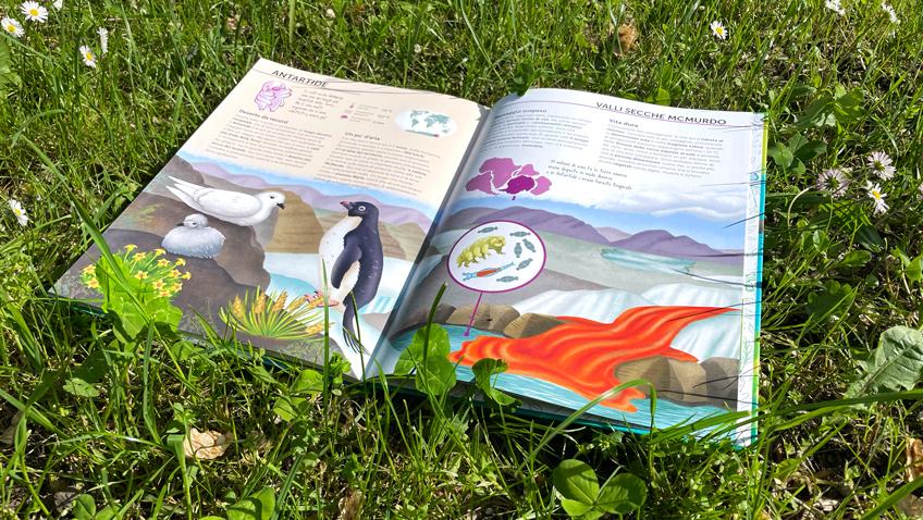 """Libro """"Atlante della Biodiversità""""- Ecosistemi da proteggere su un prato fiorito"""